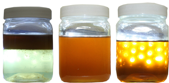 Sample of PROPEL Oil Management oil condition monitoring and cleaning